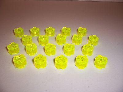 LEGO 2x2 Round Bricks - - NEW! 20 pcs Transparent NEON GREEN