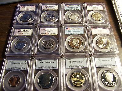 Pcgs Graded Coins-Mixed Box -Estate Buy-1 Buy=20 Slabs Randomly Selected Lot #a1