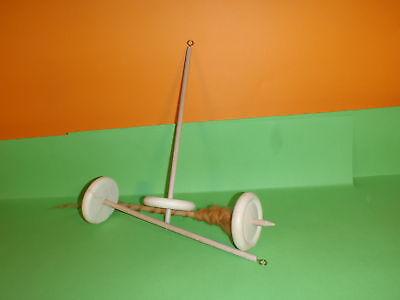 Handspindel Spindel D 8cm  x  L  30cm  zum spinnen von Wolle zu Garn stricken . 3
