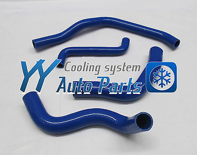 Blue for FORD FALCON AU1 AU2 4.0L 6 CYL Silicone Radiator Coolant Hose 1998-2002