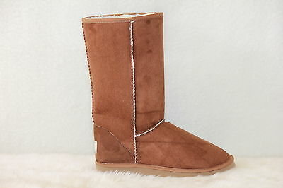 Ugg Boots Tall, Synthetic Wool, Men's Size 9 Colour Chestnut