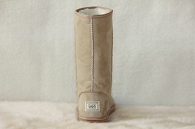 Ugg Boots Tall, Synthetic Wool, Size 9 Lady's/Size 7 Men's, Colour Beige 3