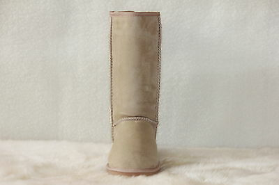 Ugg Boots Tall, Synthetic Wool, Size 11 Men's, Colour Beige