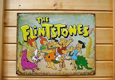 SKU 1853 The Flintstones Metal//Tin Sign