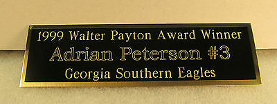 Engraved Nameplate Custom Plaques  Display Cases *blackbrass Not Aluminum* 10