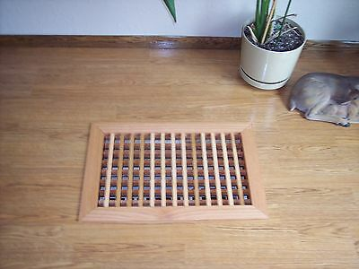 Made To Your Size Large Wood Floor Grate  Wall Register Floor Vent Airflow 5