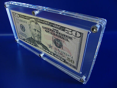 Acrylic Single Bank Note Frame Plastic Money Holder Currency Display Dollar Case 5
