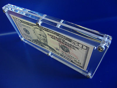 Acrylic Single Bank Note Frame Plastic Money Holder Currency Display Dollar Case 7