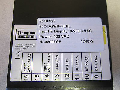 Crampton Voltmeter 262-DG/ 488537 120V Crampton Instruments NSN 6625015387063 2