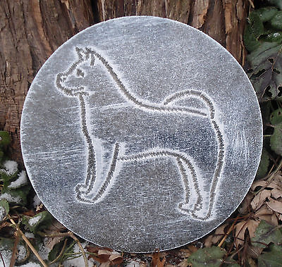 "Dog Poodle mold garden ornament casting plaque mould 7.75/"" x 3//4/"""