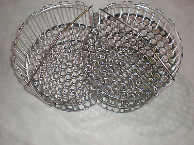 clamshell basket, 4 head, stainless steel, 5001428