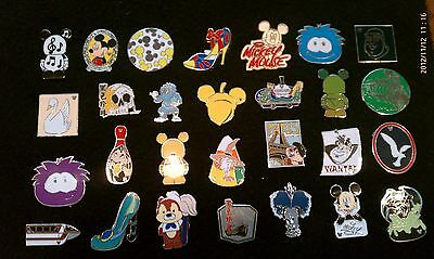 Disney Trading Pins-Lot of 25-No Duplicates-LE-HM-Rack-Cast-Free Shipping-A 2