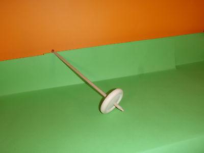 Handspindel Spindel D 8cm  x  L  30cm  zum spinnen von Wolle zu Garn stricken . 5