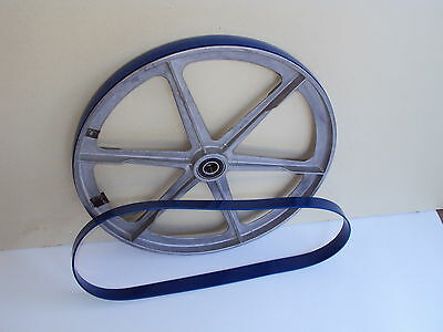 3 BLUE MAX BAND SAW TIRES AND 1 ROUND DRIVE BELT FOR SHOPCRAFT  T7060 SAW