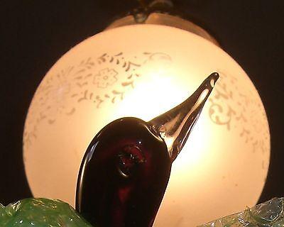 Murano blown  Glass Bird figurine Italian 1950's 3