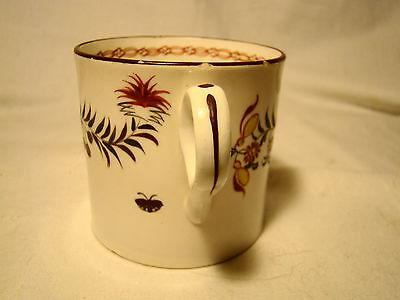 English Soft Paste Porcelain Rose & Sprigs Coffee Can or Mug c.1812-1830