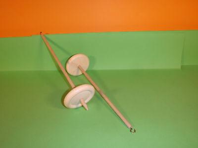 Handspindel Spindel D 8cm  x  L  30cm  zum spinnen von Wolle zu Garn stricken . 6