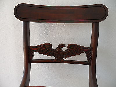 Antique Needle Point Chair with Carved Eagle on Back 2