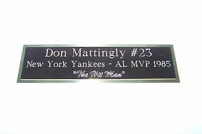 Engraved Nameplate Custom Plaques  Display Cases *blackbrass Not Aluminum* 8