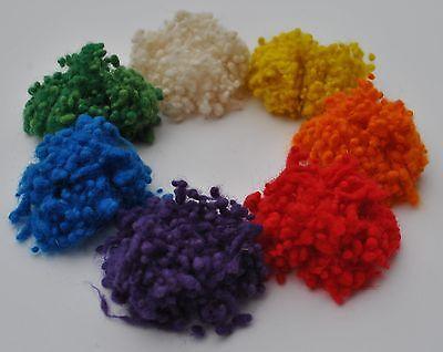 Heidifeathers® Mixed Wool Nepps - Large pack - slubs, burrs - felting, spinning 2
