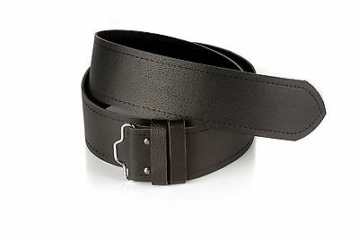 Saltire Thistle Highland Leather Kilt Belt and Buckle MG2 Antique Gunmetal