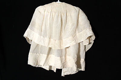 Antico Francese Edwardian 1900-1919 Crema Seta Crepe Vestito Taglia 6-12M 4