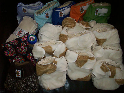 Random Try One MamaBear Cotton One Size Fitted Cloth Diapers - trim and cute! 4
