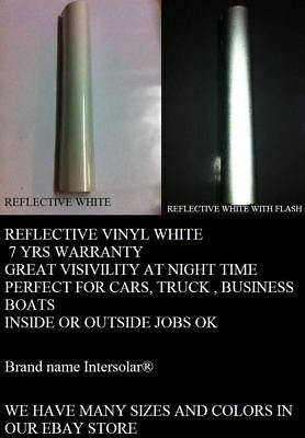 "12"" x 5 ft  WHITE  Reflective Vinyl Adhesive Cutter Sign Hight Reflectivity"