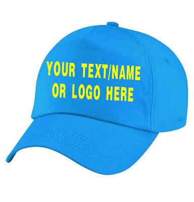 Personalised baseball caps Customised Adults unisex Printed Caps Hats Text/Logo 6