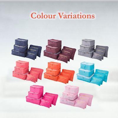 6 Pcs Clothes Underwear Socks Packing Cube Storage Travel Luggage Organizer Bag 10