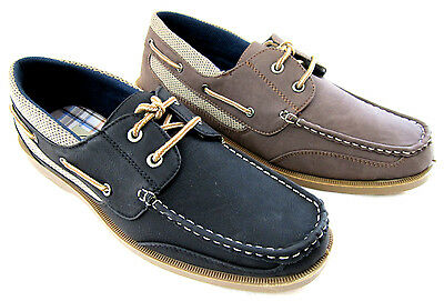 New CORONADO Men/'s Boat Casual Moccasin Lace Up Shoes