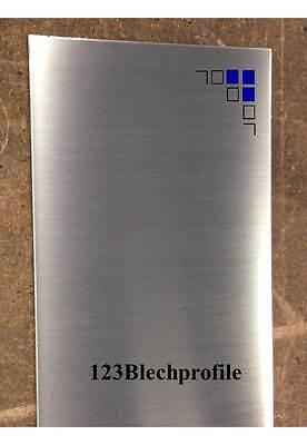 Edelstahlblech 1mm 1,5mm 2mm 3mm gebürstet 1.4301 V2A Zuschnitte Platte VA Blech 3