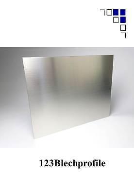 Edelstahlblech 1mm 1,5mm 2mm 3mm gebürstet 1.4301 V2A Zuschnitte Platte VA Blech 2