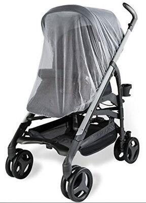 NEW White Mosquito Net Mesh Cover Child Bassinet Austlen Baby Entourage stroller 4
