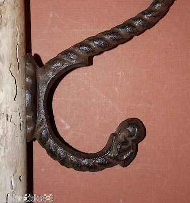 (4) pcs, FARM AND RANCH DRAWER PULL WALL HOOK SET,CAST IRON, RUSTIC ,H-44,HW-15 2