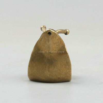 40MM Collect Curio Chinese Bronze Likable Animal Small Snail WoNiu Statue 38g 蜗牛 2
