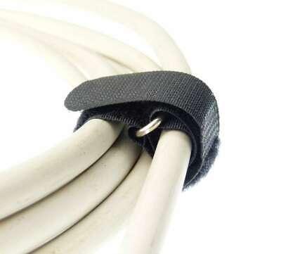 10x Kabelklett 800 x 50 mm schwarz FK Klett Band Kabelbinder Klettbänder mit Öse