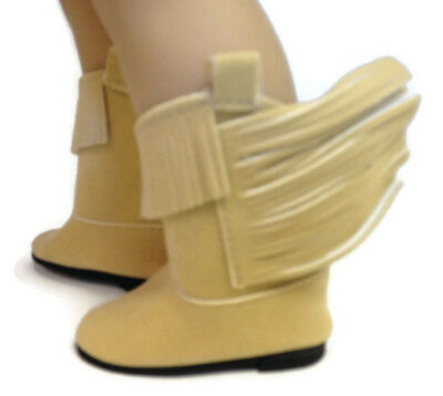 18 Inch Doll Boots Tan Fringe Boots Shoes Made for 18 American Girl Doll Clothes Dori/'s Boutique