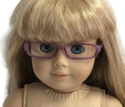 """Purple Rimmed Eye Glasses made for 18"""" American Girl Doll Clothes Accessories 4"""