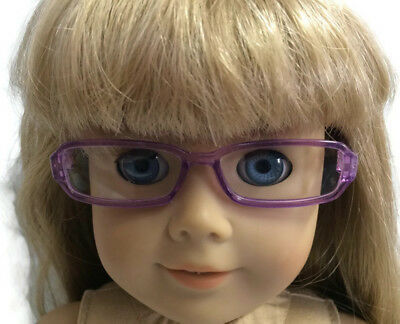 """Purple Rimmed Eye Glasses made for 18"""" American Girl Doll Clothes Accessories 3"""