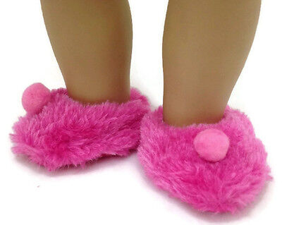 "Hot Pink Mule Slipper Shoes w//Rhinestones fits 18/"" American Girl Doll Clothes"