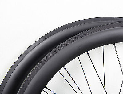 56mm Sapim Carbon Clincher Road Front Wheel 700C U shape Bike Powerway R13 Rim