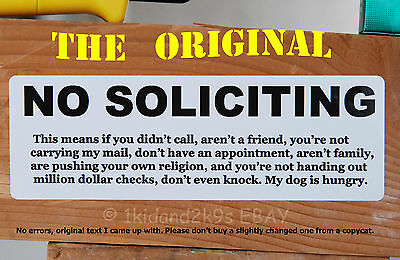 1 of 2FREE Shipping No Soliciting Solicitors u2022 Sticker Door Sign Signs Decal Stickers Window Funny & NO SOLICITING SOLICITORS u2022 Sticker Door Sign Signs Decal Stickers ...