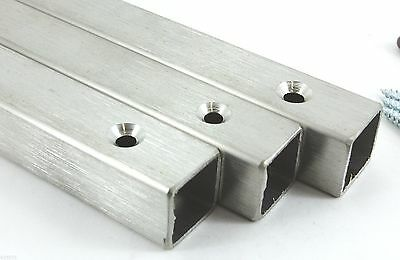 Brushed Stainless Steel 25 x 25 mm BOX SECTION Security WINDOW BAR Grill UK Made