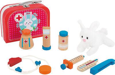Tierarzt Koffer Holzspielzeug Arzt Rollenspiel für Kinder Spielzeug Neu 2