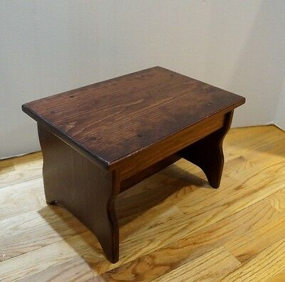 Incredible 10 Tall 11X16 Handcrafted Heavy Duty Wood Step Stool Ibusinesslaw Wood Chair Design Ideas Ibusinesslaworg