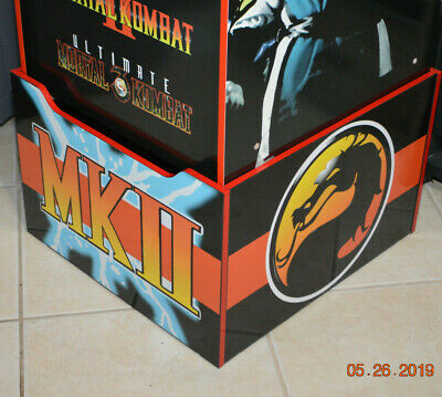 Arcade1up Cabinet Riser Graphics - Mortal Kombat 2 II Graphic Sticker Decal Set 10