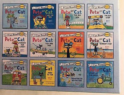 Pete the Cat Childrens Kids Books Phonics I Can Read Box Gift Set Lot 12 8