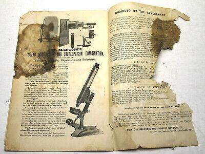 Rare Catalog For Early Quack Electronic Stimulation McIntosh Galvanic Battery Co 7