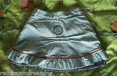 NEW - Oilily Skirt -  AGE 4 years - embroidery on warm velvet cotton NEW 5